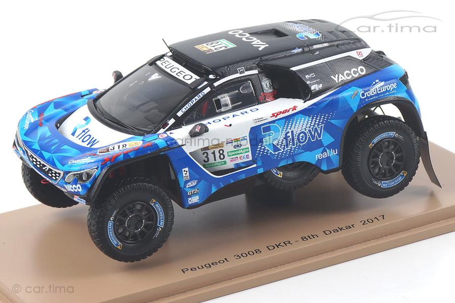 Peugeot 3008 DKR Dakar Rally 2017 Dumas/Guehennec Spark 1:43 S5614