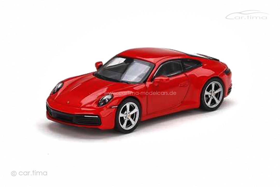 Porsche 911 (992) Carrera S Indischrot MINI GT 1:64 MGT00283
