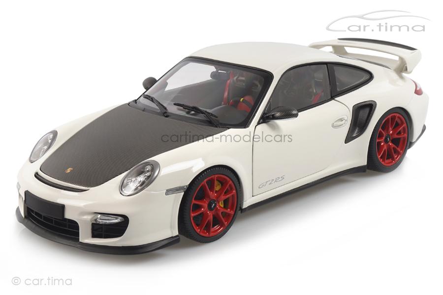 Porsche 911 (997 II) GT2 RS 2011 weiß/rote Felgen Minichamps 1:18 100069400R
