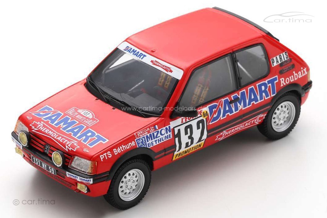 Peugeot 205 GTI Rally Monte Carlo 1986 Delecour/Pauwels Spark 1:43 S9456