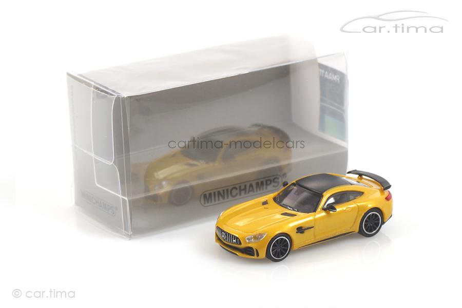 Mercedes-AMG GT-R 2017 gelb met. Minichamps 1:87 870037222