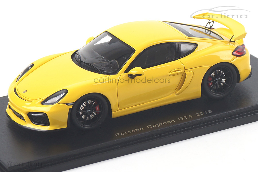 Porsche Cayman (981) GT4 Racinggelb Spark 1:43 S4939