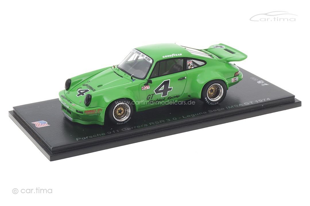 Porsche 911 Carrera RSR 3.0 IMSA GT Laguna Seca 1974 Haywood/Webbe Spark 1:43 US148