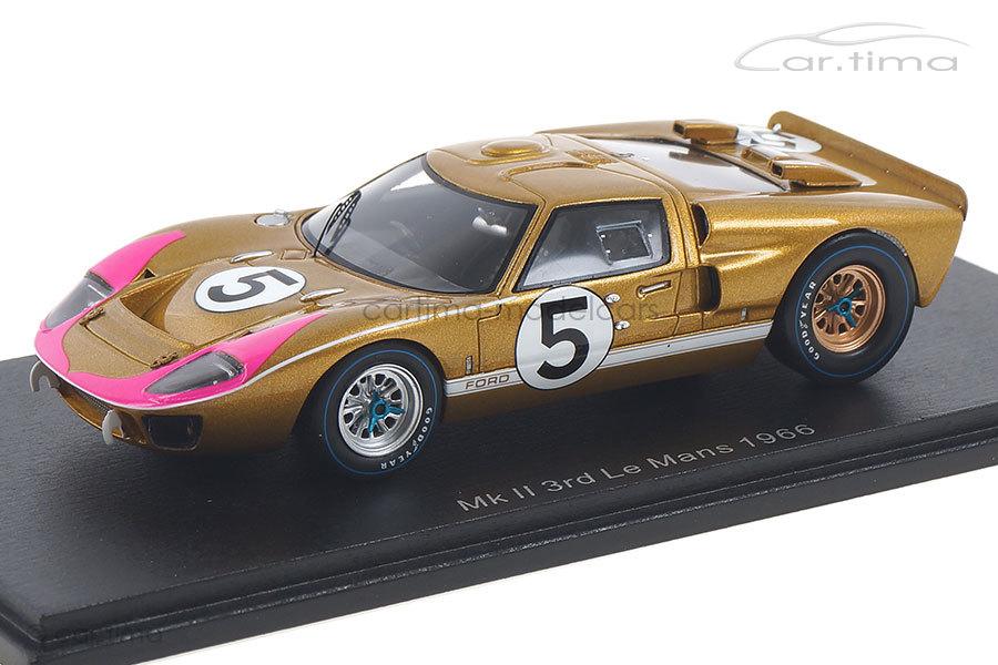 Ford GT40 MKII 24h Le Mans 1966 Bucknum/Hutcherson Spark 1:43 S4076
