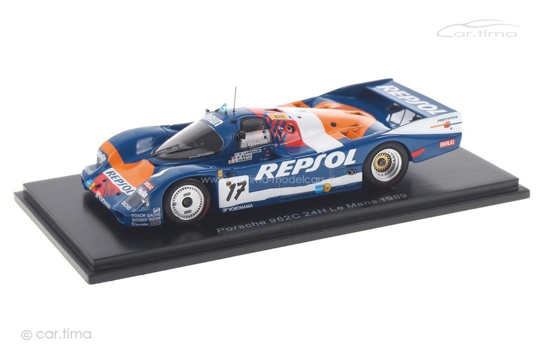 Porsche 962 C 24h Le Mans 1989 Brun/Larrauri/Pareja Spark 1:43 S9875
