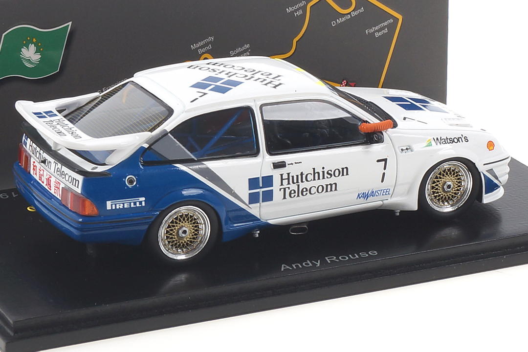 Ford Sierra RS500 Cosworth Macau 1989 Andy Rouse Spark 1:43 SA193