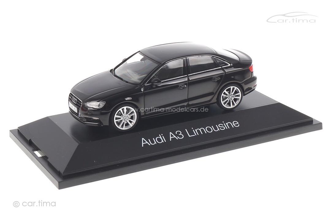 Audi A3 Limousine Brilliantschwarz Herpa 1:43 070737
