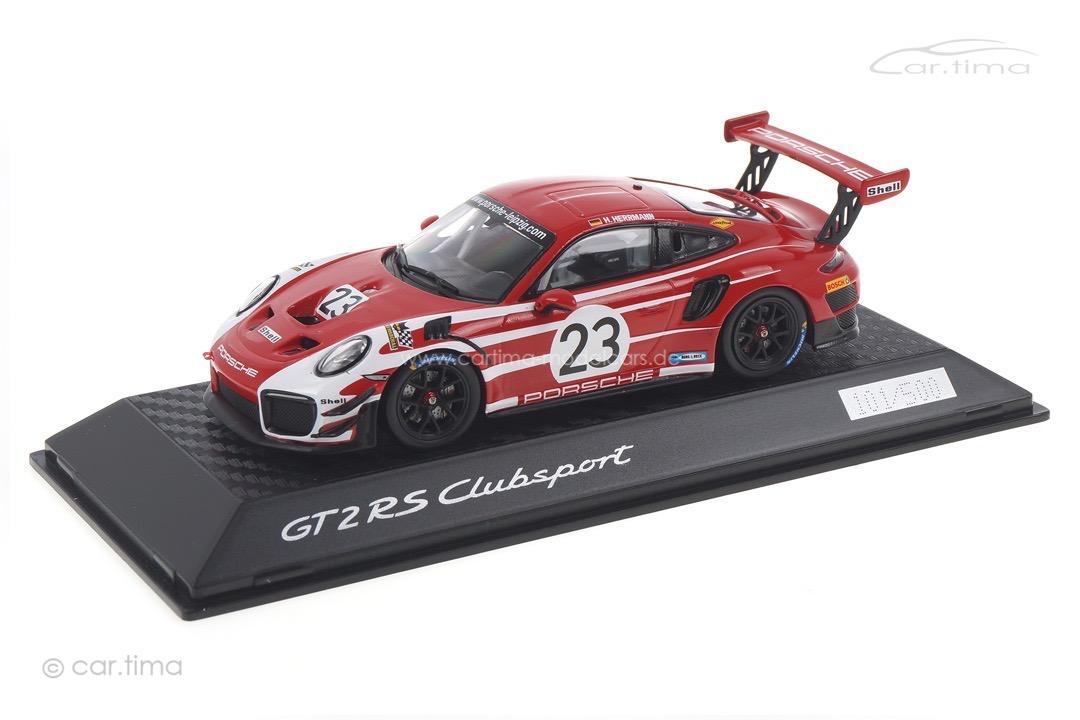 Porsche 911 GT2 RS Clubsport Salzburg Design Porsche Leipzig Spark 1:43 WAXL2000006