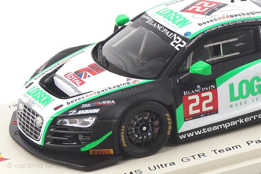 Audi R8 LMS Ultra 24h Spa 2014 Loggie/Machitski/Rosenblad/Westwood Spark 1:43 SB082