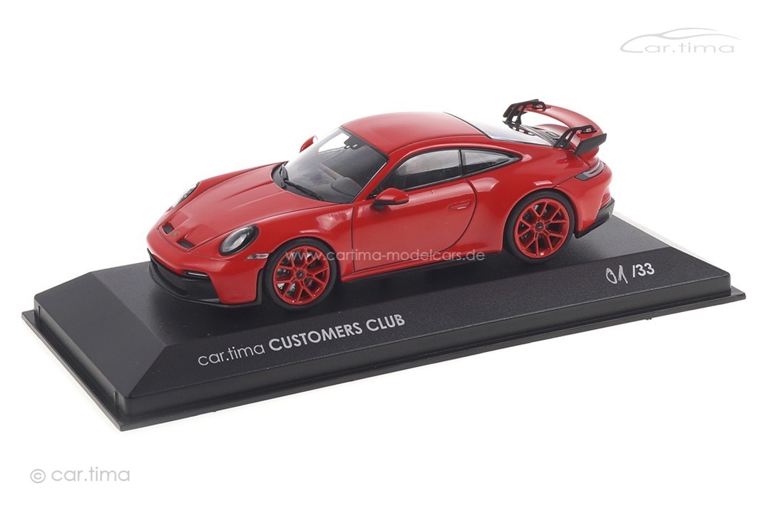 Porsche 911 (992) GT3 car.tima CUSTOMERS CLUB Minichamps car.tima CUSTOMIZED 1:43