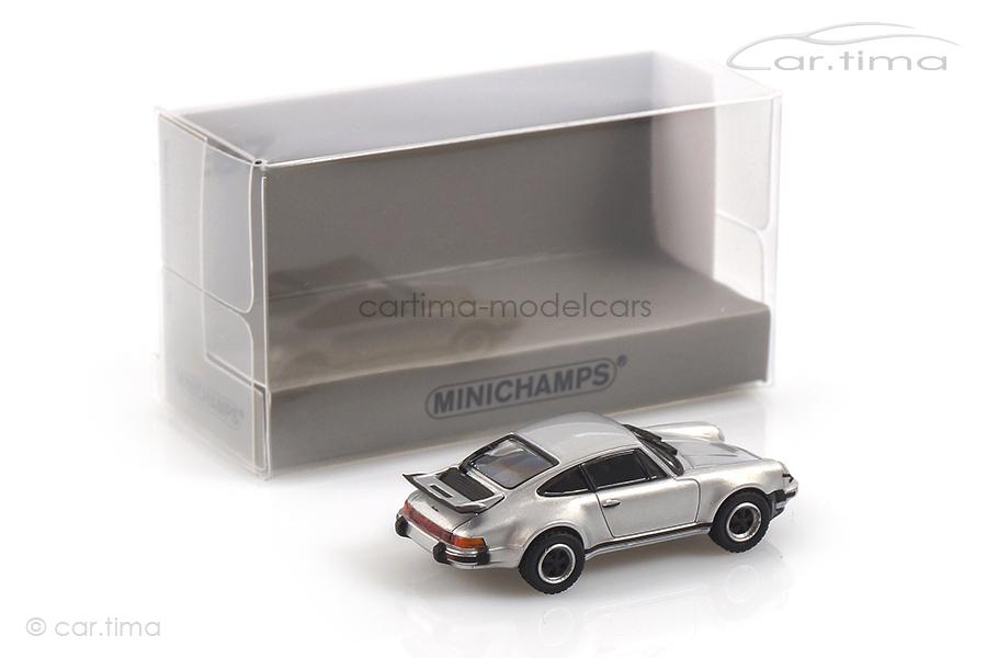 Porsche 911 (930) Turbo 3.0 1977 silber Minichamps 1:87 870066102