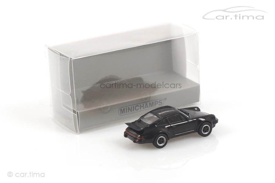 Porsche 911 (930) Turbo 3.0 Schwarz Minichamps 1:87 870066101