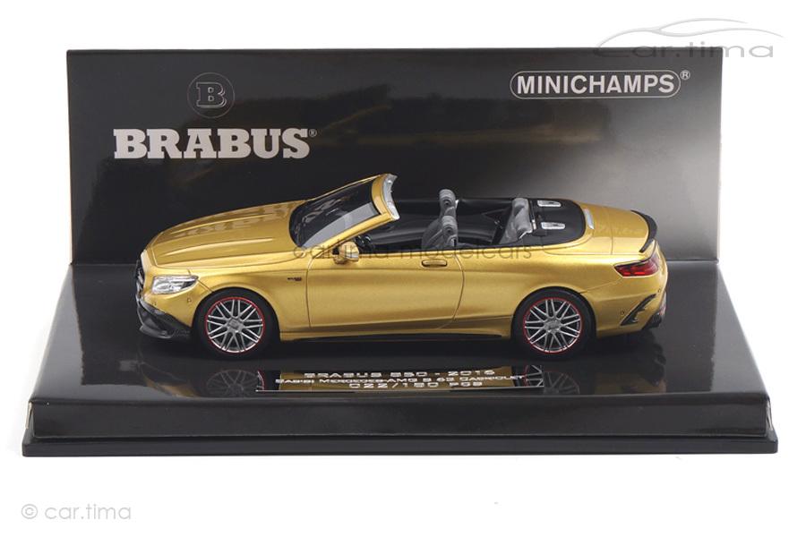 Brabus 850 S-Class Cabriolet 2016 gold Minichamps 1:43 437034234