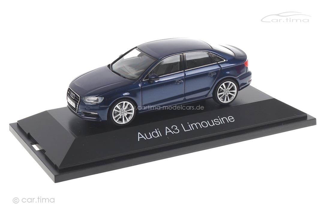 Audi A3 Limousine Scubablue met. Herpa 1:43 070744