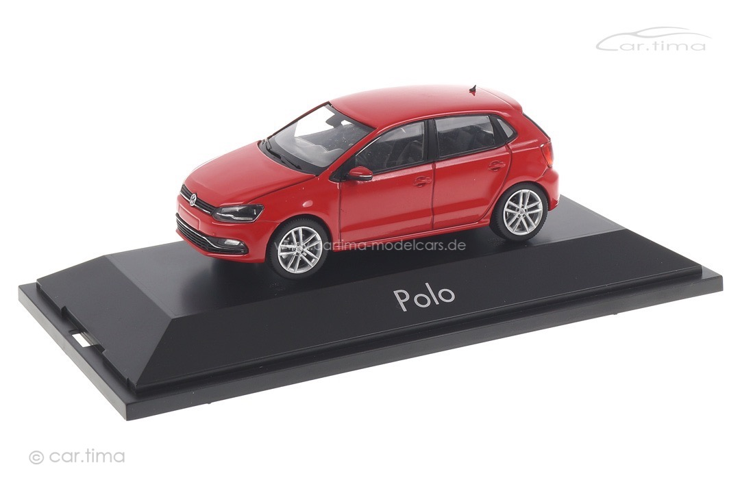 VW Polo 6C Flashrotmet. Herpa 1:43 070836