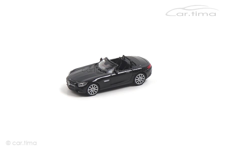 Mercedes-AMG GTS Cabriolet schwarz Minichamps 1:87 870037131