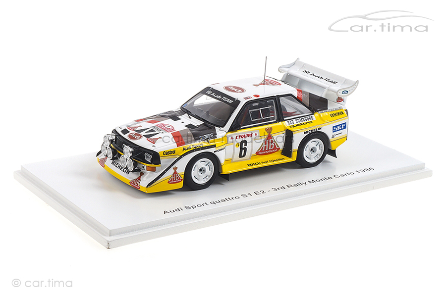 Audi Sport quattro Rallye Monte-Carlo 1986 Mikkola/Hertz Spark 1:43 S5191