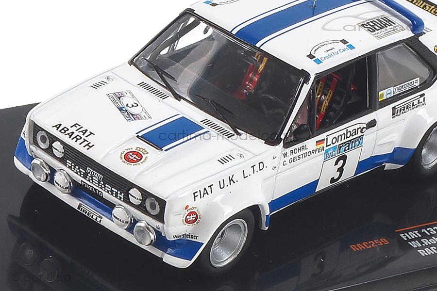 Fiat 131 Abarth RAC Rally 1979 Röhrl/Geistdörfer IXO 1:43 RAC259