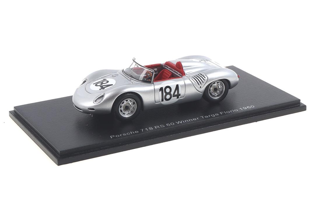 Porsche 718 RS 60 Winner Targa Florio 1960 Bonnier/Herrmann Spark 1:43 43TF60