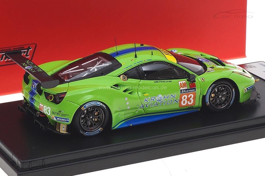 Ferrari 488 GTE 24h Le Mans 2017 Bertolini/Krohn/Jönsson LookSmart 1:43 LSLM075