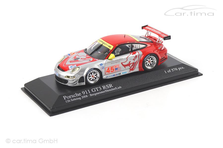 Porsche 911 (997) GT3 RS 12h Sebring 2008 Bergmeister/Lieb/Henzler Minichamps 1:43 400087845