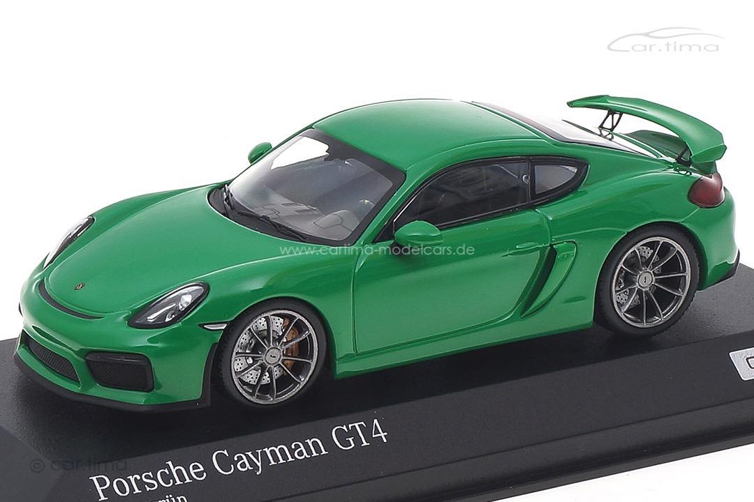 Porsche Cayman GT4 Vipergrün Minichamps 1:43 CA04316076