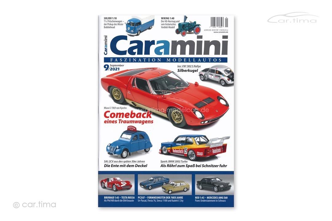 Zeitschrift / Magazine caramini Faszination Modellautos 09/2021 Expromo Verlag