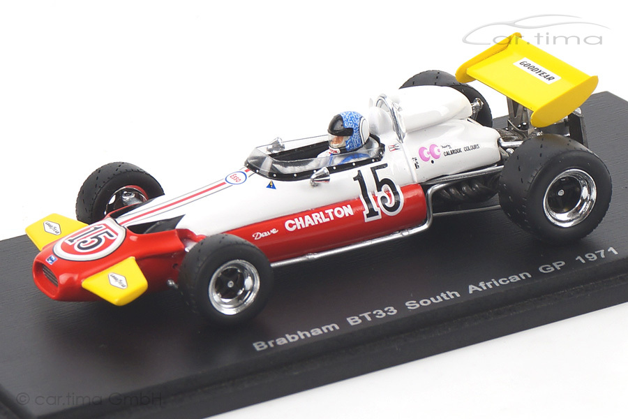 Brabham BT33 GP Südafrika 1971 Dave Charlton Spark 1:43 S4339