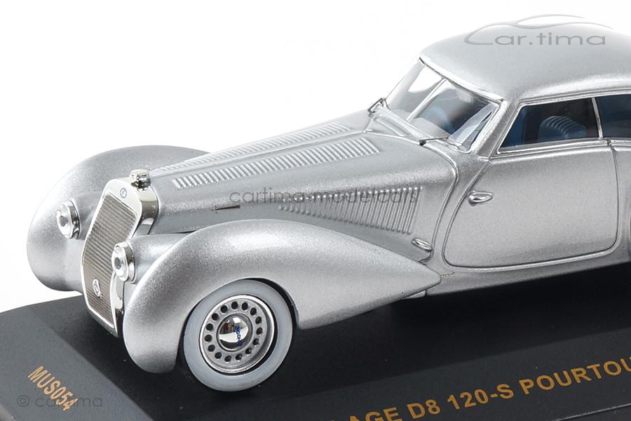 Delage D8 120-S Pourtout Aero Coupe 1937 silber IXO Models 1:43 MUS054