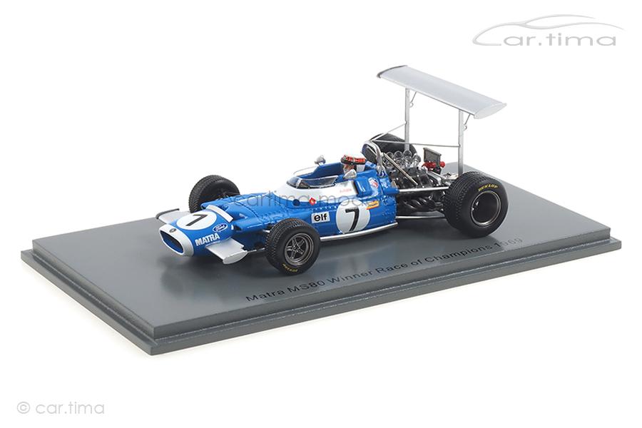 Matra MS80 Winner Race of Champions 1969 Jackie Stewart Spark 1:43 S7186