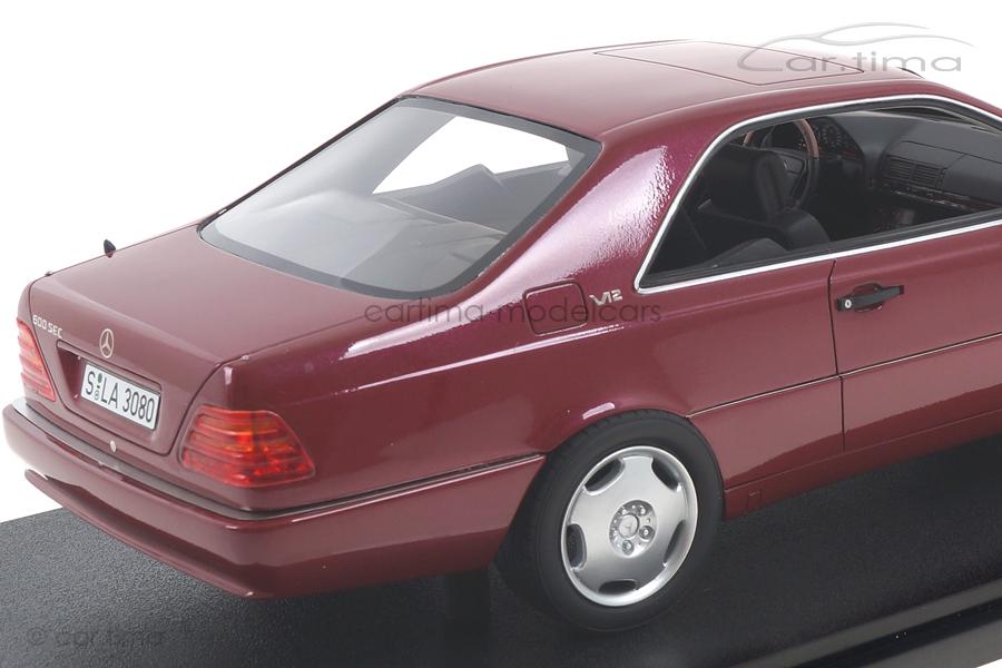 Mercedes-Benz 600 SEC C140 rot met. Cult Models 1:18 CML079-3