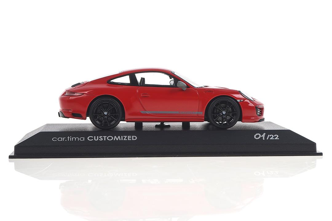 Porsche 911 (991 II) Carrera T Indischrot/Rad schwarz Signaturdruck Walter Röhrl