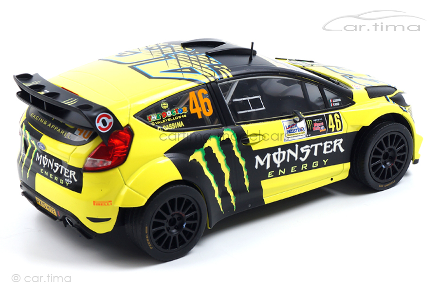 Ford Fiesta RS WRC Monza Rally 2015 Rossi/Cassina IXO Models 1:18 18RMC015
