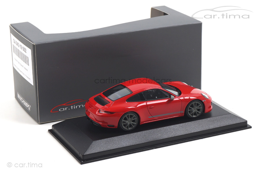 Porsche 911 (991 II) Carrera T Indischrot Minichamps 1:43 CA04319002