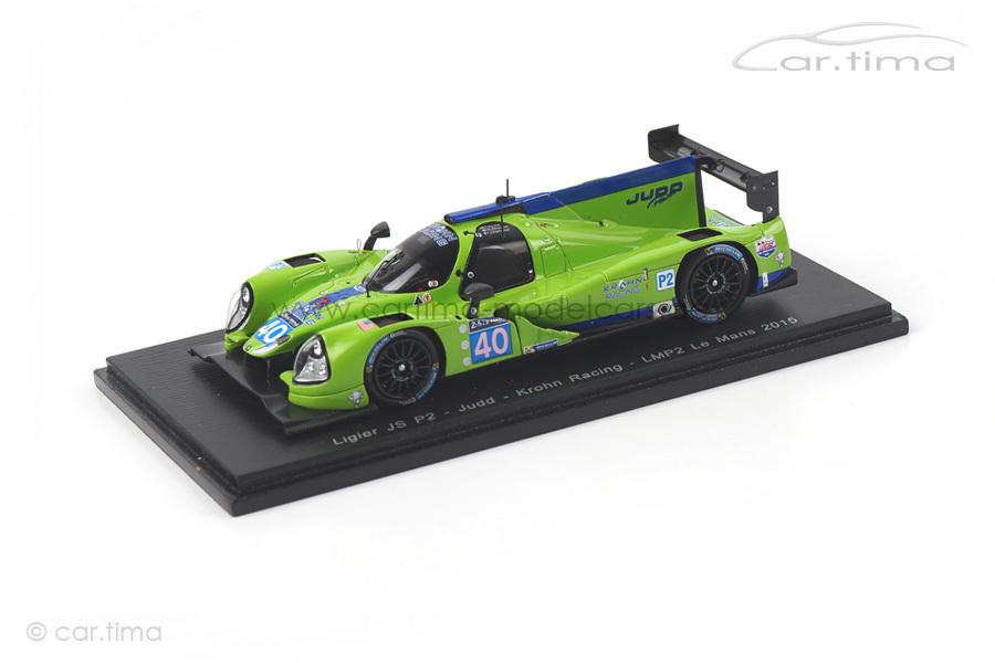 Ligier JS P2-Judd 24h Le Mans 2015 Barbosa/Krohn/Jönsson Spark 1:43 S4654