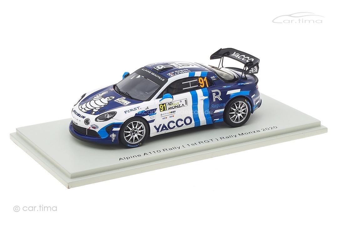 Alpine A110 Rally RGT Winner RGT Rally Monza 2020 Ragues/Pesenti Spark 1:43 S6573