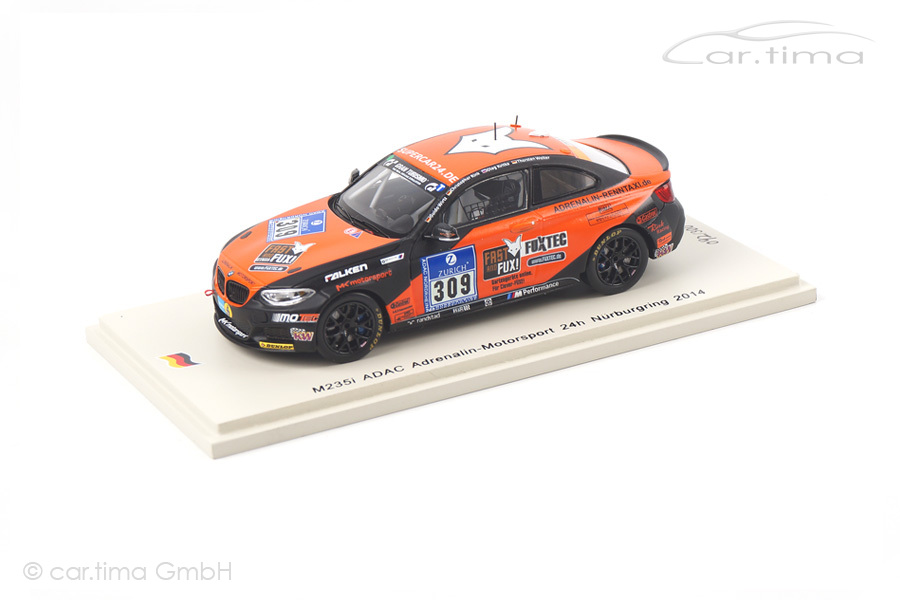 BMW M235i 24h Nürburgring 2014 Wirtz/Rink/Kvitka/Wolter Spark 1:43 SG165