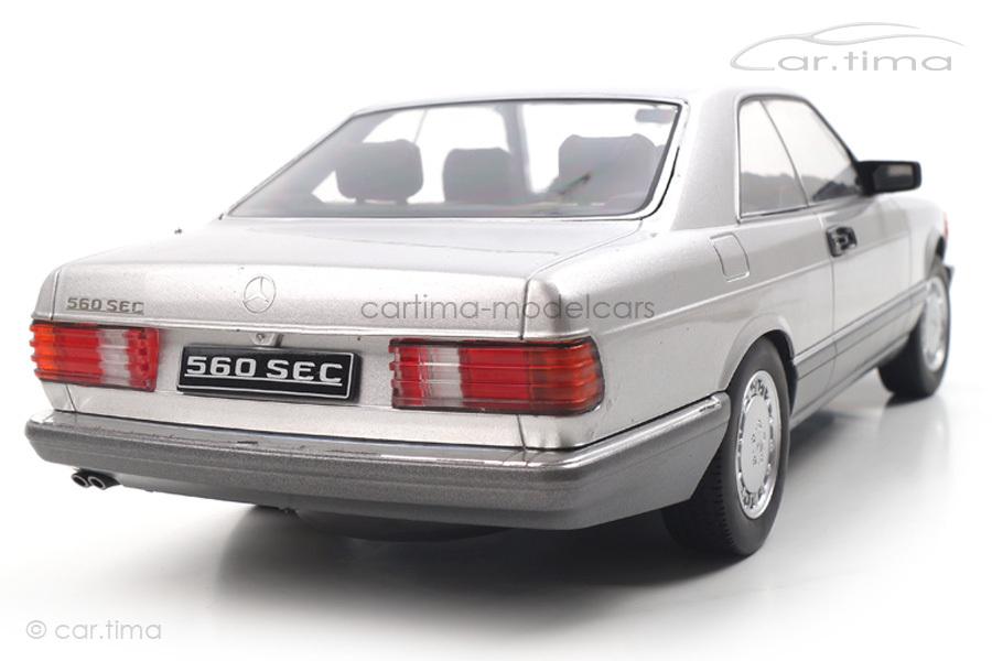 Mercedes-Benz 560 SEC C126 silber KK Scale 1:18 KKDC180332