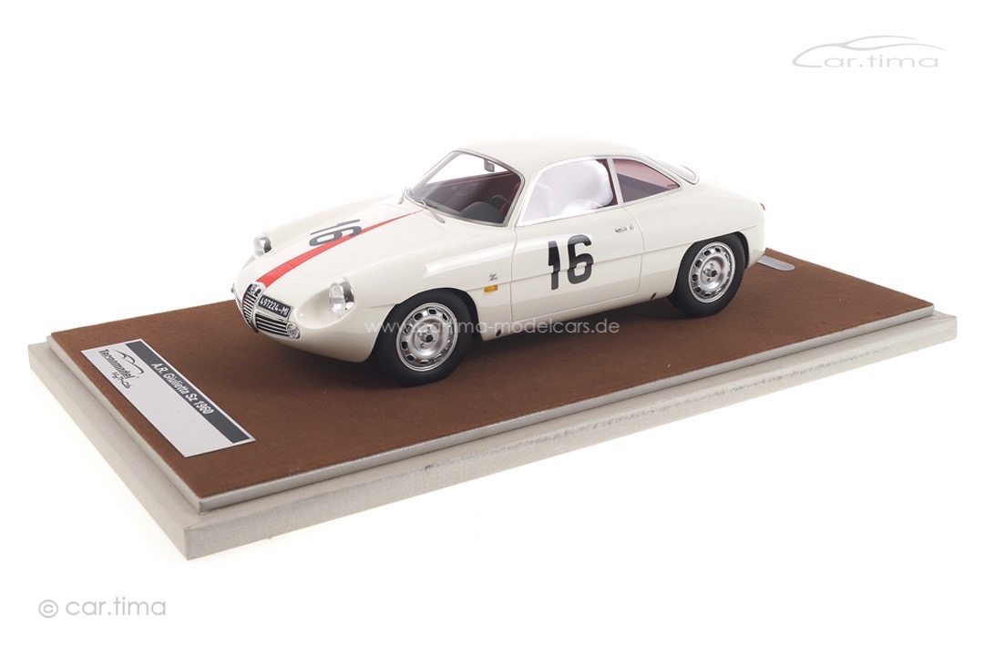 Alfa Romeo Giulietta SZ Monza Coppa Intereuropa 1960 Kim Tecnomodel 1:18 TM18-42F