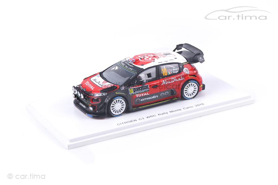 Citroen C3 WRC Rally Monte Carlo 2018 Meeke/Nagle Spark 1:43 S5960