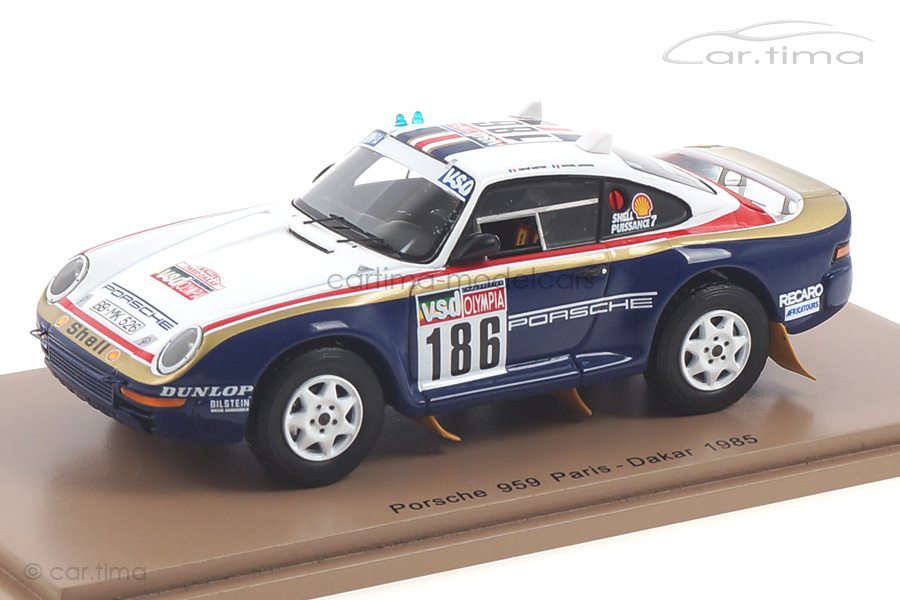 Porsche 959 Rallye Paris-Dakar 1985 Metge/Lemoine Spark 1:43 S7818