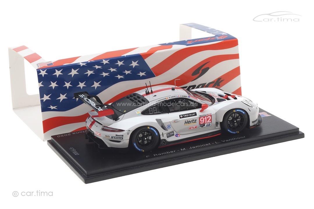 Porsche 911 RSR 24h Daytona 2020 Bamber/Jaminet/Vanthoor Spark 1:43 US121