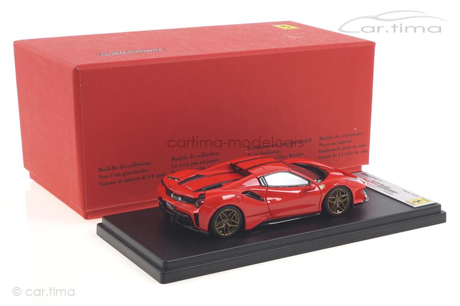 Ferrari 488 Pista Spider Hard Top Rosso Scuderia/Nero Daytona LookSmart 1:43 LS496HTD