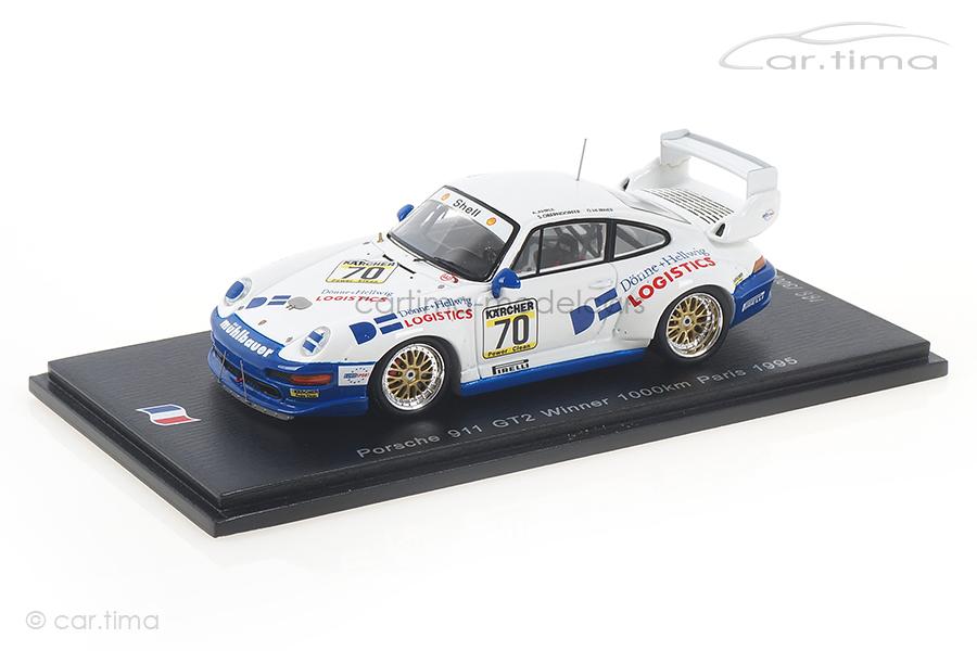 Porsche 911 (993) GT2 Winner 1000 km Paris 1995 Hübner/Oberndorfer Spark 1:43 SF130