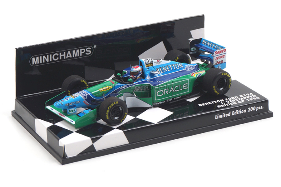 Benetton Ford B194 British GP 1994 Jos Verstappen Minichamps 1:43 417940806