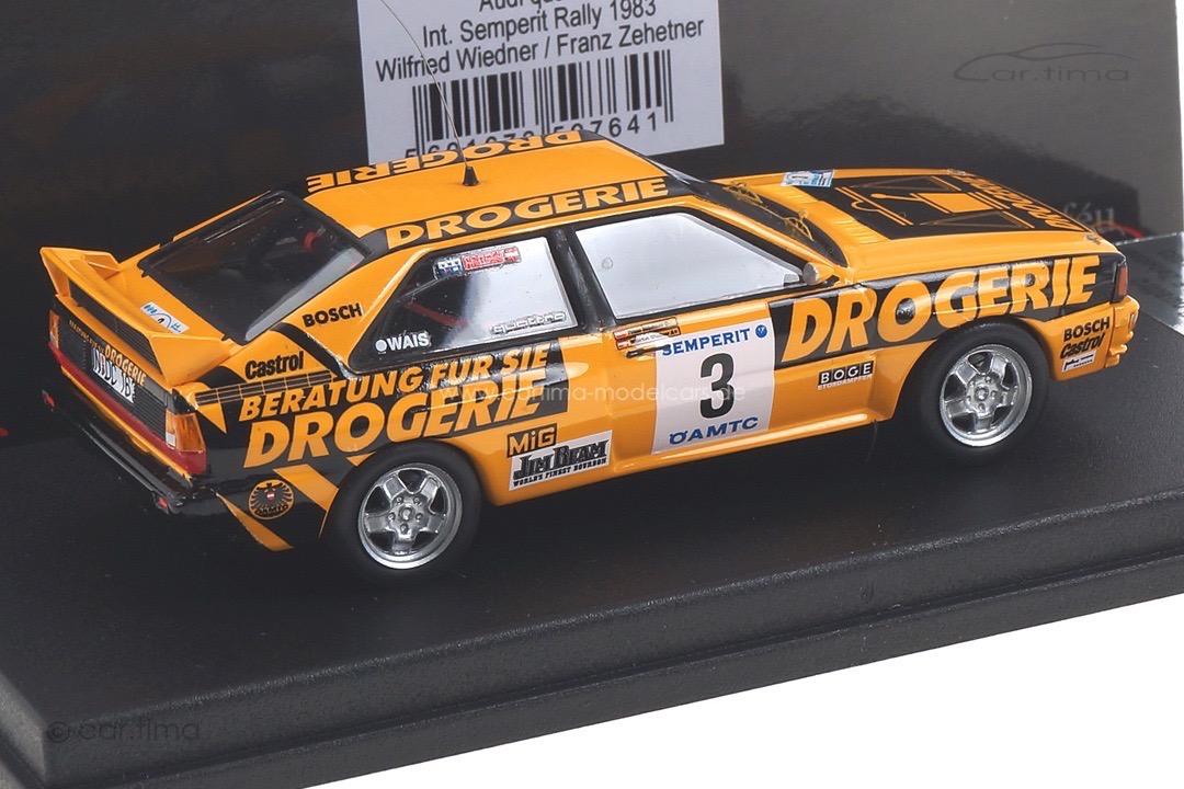 Audi Quattro Semperit Rally 1983 Wiedner/Zehetner Trofeu 1:43 RRAT04