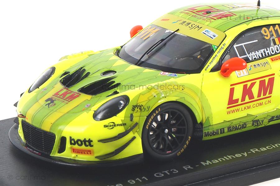 Porsche 911 GT3 R Macau 2018 Laurens Vanthoor Spark 1:43 SA175