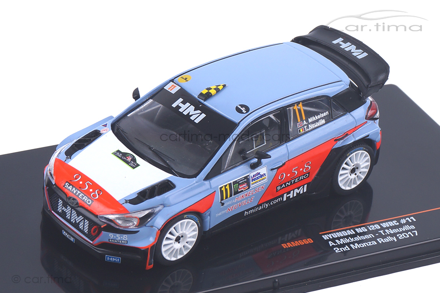 Hyundai NG i20 WRC Rally Monza 2017 Mikkelsen/Neuville IXO 1:43 RAM660