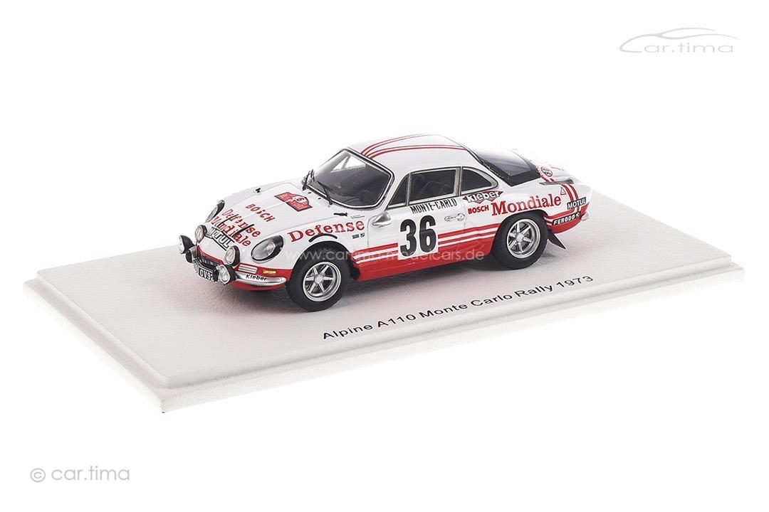 Alpine A110 Rallye Monte Carlo 1973 Wollek/Thimonier Spark 1:43 S6111