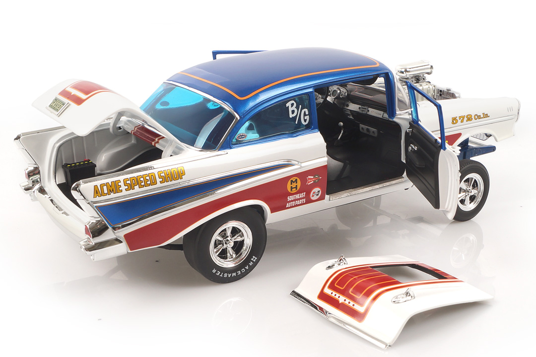 Chevrolet Bel Air Gasser 1957 American Express ACME 1:18 A1807007